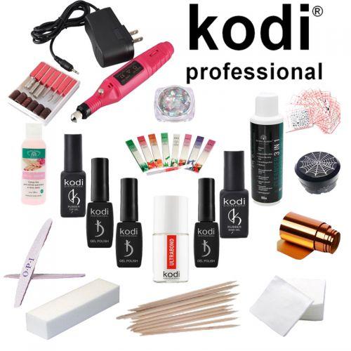 Стартовый набор для маникюра Kodi Professional с ручкой фрезером