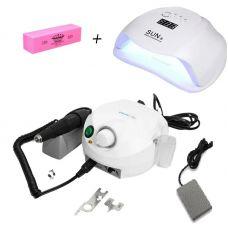 Набор фрезер Marathon Escort Pro H35SP1+ лампа для маникюра SUN X 54W