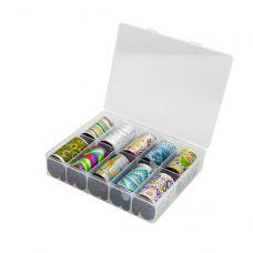 Набор фольги для декора ногтей, Абстракция (10 шт)