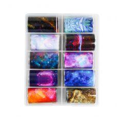 Набор фольги для ногтей, Космос (10 шт)