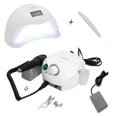 Набор фрезер Marathon Escort Pro H35SP1+лампа для маникюра SUN 5 48W