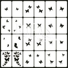 Трафарети для нігтів Метелики