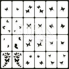 Трафареты для ногтей Бабочки