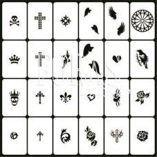 Трафареты для ногтей Готика