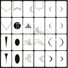 Трафареты для ногтей Классический дизайн