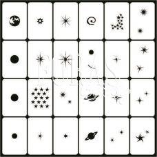 Трафареты для ногтей Космос
