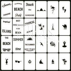 Трафарети для нігтів Літня відпустка