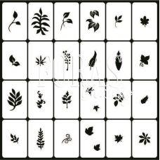 Трафареты для ногтей Листья