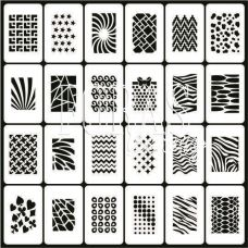Трафарети для нігтів Принт