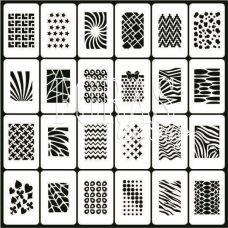 Трафареты для ногтей Принт