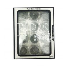 Nail Decorations, конфетти блёстки микс, 005 набор 12 шт
