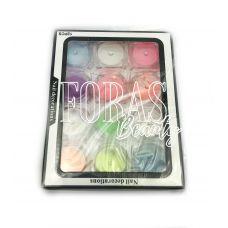 Nail Decorations, конфетті блискітки мікс, 003 набір 12 шт