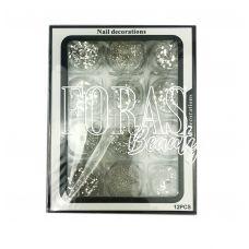 Nail Decorations, конфетті блискітки мікс, 006 набір 12 шт