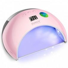 LED+UV лампа для маникюра SUN 6 48W Розовая SMART 2.0