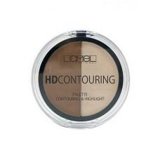 Набор для контуринга лица Lamel Professional HD Contouring, 6г