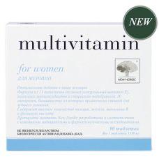 Мультивитамины для женщин Multivitamin for women New Nordic 90 таб