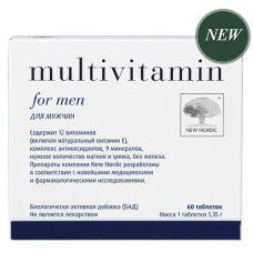 Мультивитамины для мужчин Multivitamin for men New Nordic 60 таб