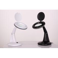 Лампа-лупа настольная 2012В black