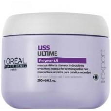Loreal Liss Ultime Polymer AR Smoothing Masque разглаживающая маска для непослушных волос, 200 мл
