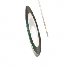 Самоклеїться для дизайну нігтів Metalic Yarn Lazer Blue-green