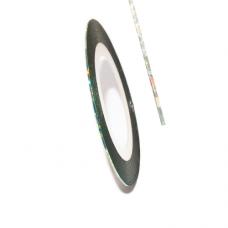 Самоклеящаяся лента для дизайна ногтей Metalic Yarn Lazer Blue-green