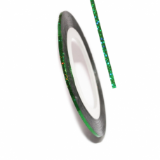 Самоклеящаяся лента для дизайна ногтей Metalic Yarn Green Lazer