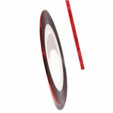 Самоклеїться для дизайну нігтів Nail Strips Bright Red