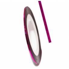 Самоклеящаяся лента для дизайна ногтей Nail Strips Laser Rose-Red