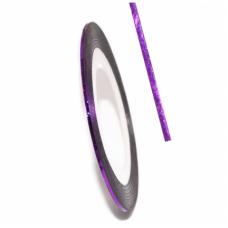 Самоклеїться для дизайну нігтів Nail Strips Laser Purple