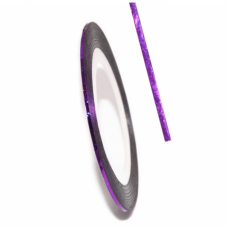 Самоклеящаяся лента для дизайна ногтей Nail Strips Laser Purple