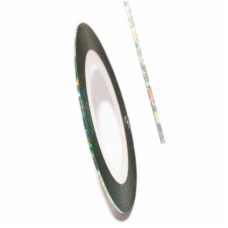 Самоклеящаяся лента для дизайна ногтей Nail Strips Laser Blue-Green
