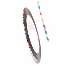 Самоклеящаяся лента для дизайна ногтей Nail Strips Laser Color