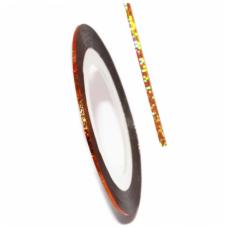 Самоклеящаяся лента для дизайна ногтей Nail Strips Bronze