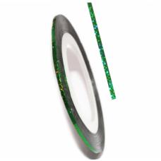Самоклеящаяся лента для дизайна ногтей Nail Strips Green Laser