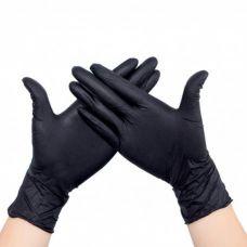 Перчатки нитриловые 10 штук в упаковке, размер M (черные)