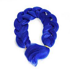 Канекалон однотонный 104 см, синий