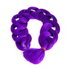 Канекалон однотонный 104 см, темно-фиолетовый