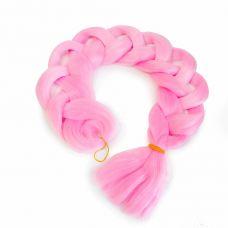 Канекалон однотонный 104 см, розовый