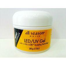 Моделирующий гель Прозрачно розовый Leveling Pink Gel Led/UV 28 ml