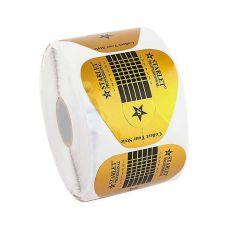 Формы для наращивания ногтей Starlet Professional широкие, золотые, 500 шт.