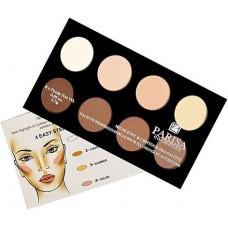 Parisa Cosmetics Highlight And Contour Pro Palette HL-08 Профессиональная палитра хайлайтеров и корректоров