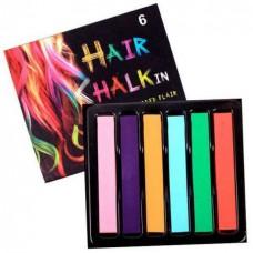 Набір крейди для волосся Hair chalk 6 шт.