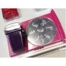 Набор для стемпинга большой диск, штамп и лаки