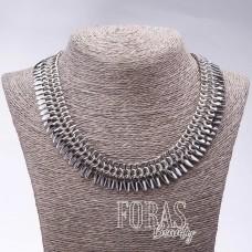 """Ожерелье """"Серебряные перья"""", длина 45см хайтек"""