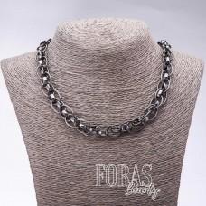 """Ожерелье """"Серебряные цепи"""", длина 50-55 см, стиль хайтек"""