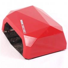 Лампа для маникюра LED+CCFL  Diamond 36W Красная