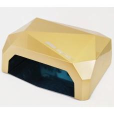 LED+CCFL Лампа для маникюра Diamond 36W Золотая