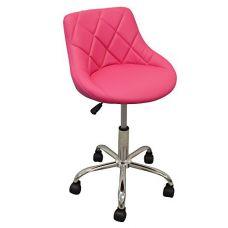 Маникюрный стул со спинкой DevLon NorthWest Salon Facial (Розовый)