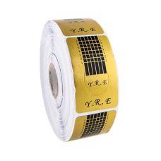 Формы для наращивания ногтей Global Fashion, 500 шт. золотые узкие