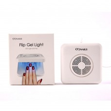 LED лампа для маникюра Flip LED Light and Fan